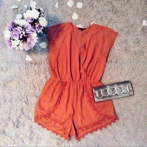 Pants - NWOT rustic orange play suit romper
